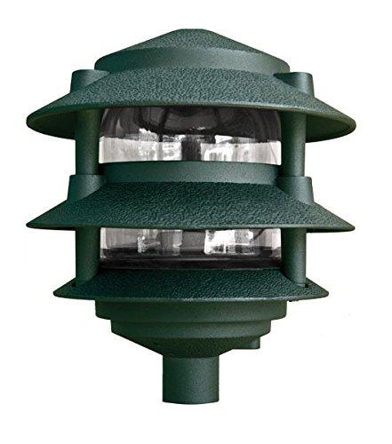 Dabmar Lighting D5000-G Pagoda Fixture 3 Tier Incand 120V Light, Green Finish (Pagoda Tier Landscape Light)