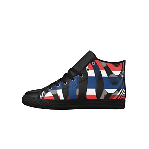 InterestPrint The Flag of Norway Aquila High Top Action Leather Mens Shoes