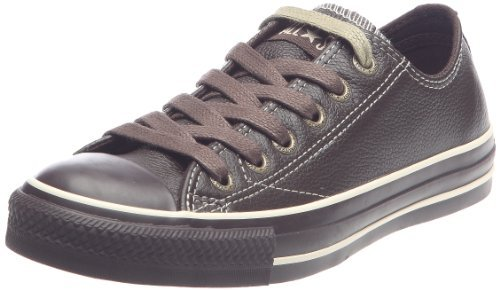 Converse Chuck Taylor All Star European Style HLo OX Leather Sneaker Brown (7 B(M) US Women / 5 D(M) US Men)