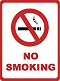 2 Pack - No Smoking Sign - Inches Large Business Warning Safety Signs, 12x18