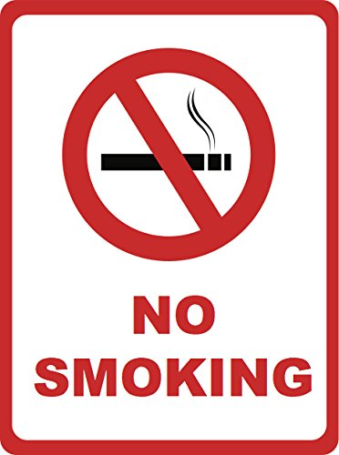 No Smoking Sign - No Cigarette Smoker Signs - 4 Pack