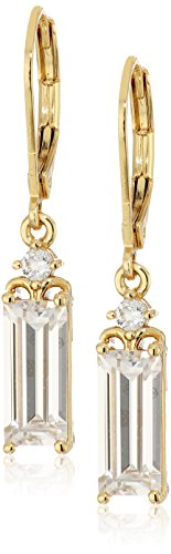 te Drop Leverback Gold Drop Earrings (Nicole Miller Jewellery)