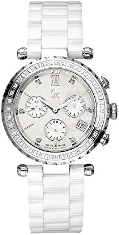 Guess Reloj Analógico para Mujer de Cuarzo con Correa en Acero Inoxidable I01500M1