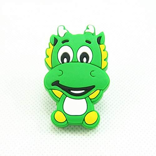 Value-5-Star - 28mmx45mm Cartoon Green Dragon Plastic Rubber Furniture Drawer Dresser Cabinet Handles Pull Knobs for Kids Room