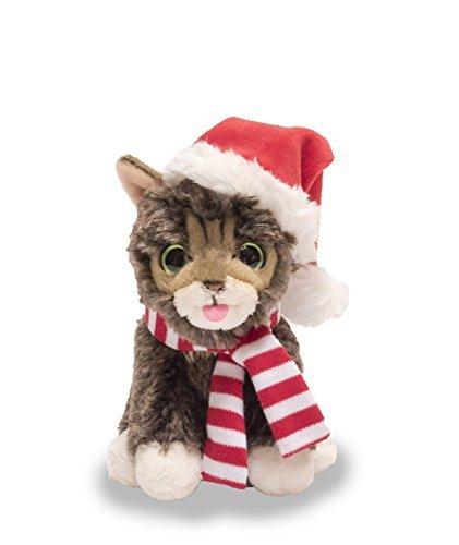 Cuddle Barn Christmas Kitten Cat Plush Toy 5.5