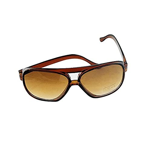 Denshine SunGlasses Mirror Colored Fashion Style Shades Hommes Femmes Classic Light Brown lhY1xRSl