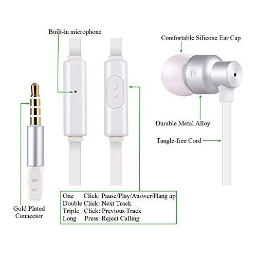 Ear Buds with Mic, Earbuds with Microphone - Audifonos