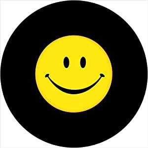 Smile Face with black border Spare Tire Cover for Jeep RV Camper VW Trailer etc(Select popular sizes from drop down menu or contact us-ALL SIZES AVAILABLE)