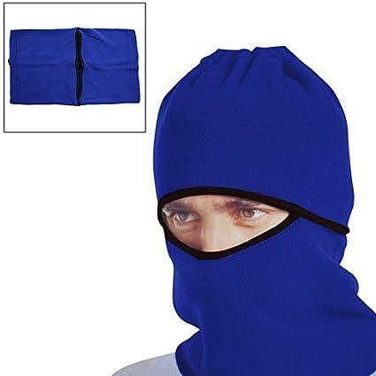 DealMux cara azul Windproof Máscara Cap Neck Protector Capa para Motocicleta Ciclismo