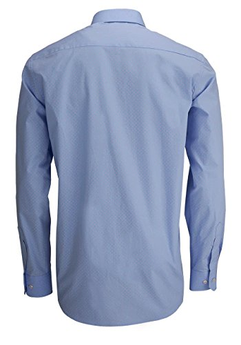 ETERNA Comfort Fit Hemd extra kurzer Arm Muster hellblau AL 59