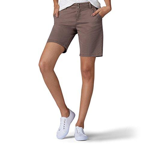 (LEE Women's Straight Fit Tailored Chino Bermuda Short, Vintage deep Breen)