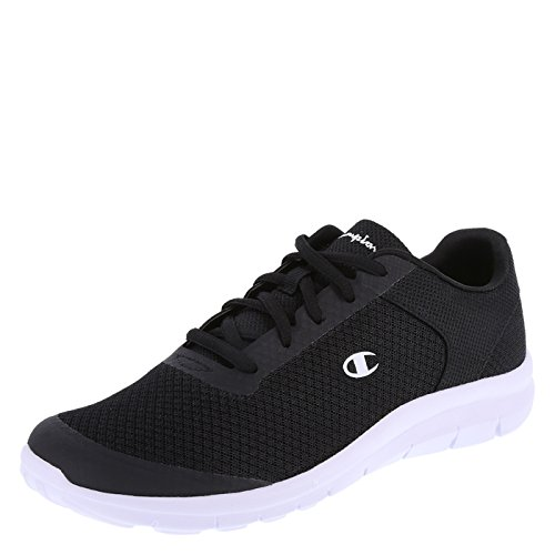 Black Ladies Trainers - Champion Women's Black White Mesh Gusto Performance Cross Trainer 9.5 Wide