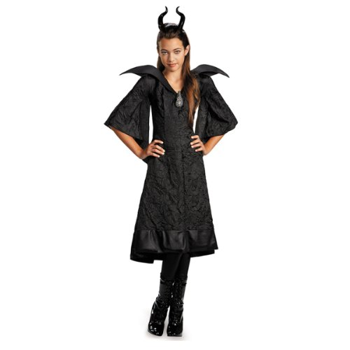 Maleficent Movie Costumes (Disney Maleficent Movie Christening Black Gown Girls Classic Costume Lg)