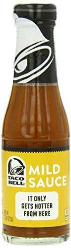 (3 Pack) Taco Bell Sauce, Mild, 7.5-Ounce Glass Bottles