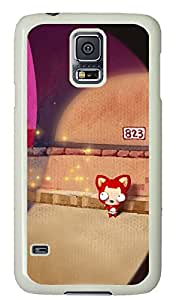 galaxy s5 case,custom samsung galaxy s5 case,TPU Material,Drop Protection,Shock Absorbent,white case,cute cartoon pattern,Fox under the lights