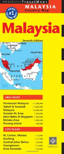 Malaysia Travel Map Seventh Edition (Periplus Travel Maps)