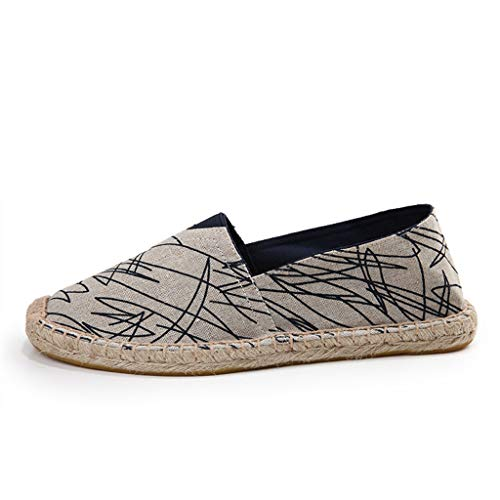 Espadrilles for Women Canvas, Huazi2 Printing Casual Breathable Flat Shoes (Sneaker Adams Spike)