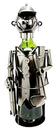 Ky & Co YesKela Professional Golfer with Golf Club and Caddy Bag Hand Made Metal Wine Holder