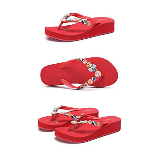 Scarpe Dimensioni Black Sandali Estate Donna 5 5 Pantofole Moda Abbigliamento Red colore Sportive 6fpxnp