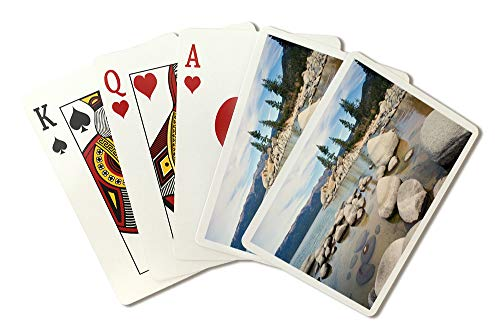 Lake Tahoe - Sand Harbor - Photgraphy A-93413 (Playing Card Deck - 52 Card Poker Size with Jokers)