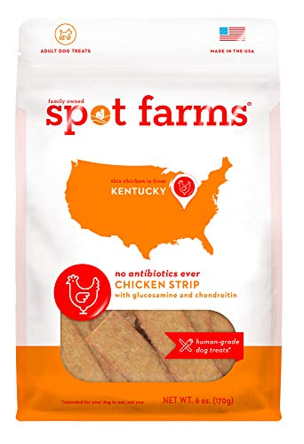 (Spot Farms All Natural Human Grade Dog Treats, Chicken Strips With Glucosamine And Chondroitin, 6 Ounce)
