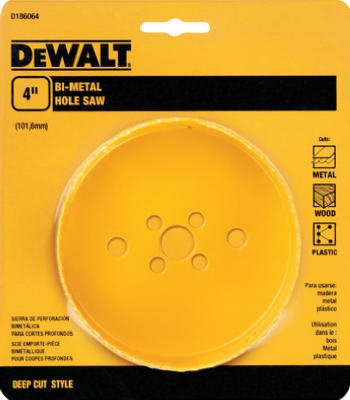 Dewalt Accessories D180064 4-Inch Bi-Metal Hole Saw