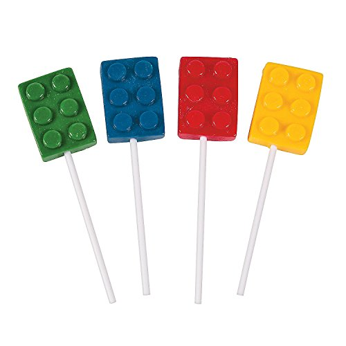 Brick Building Block Party Suckers, 12 Count]()