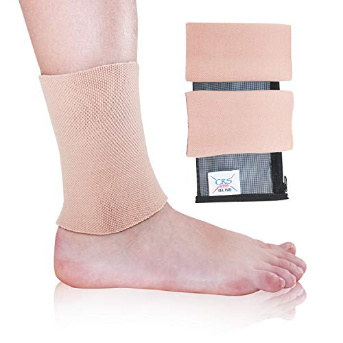 CRS Cross Ankle Gel Sleeves - Padded Skate Socks Ankle Protection (Figure Skating, Hockey, Roller, Inline, Riding, ski or Equestrian Tall Boots) (2-Gel Sleeves) (Skating Figure Roller)