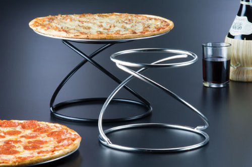 American Metalcraft SSUS1 Stainless Steel Single-Shelf Contempo Swirl Pizza Stand, 7-Inch, Silver