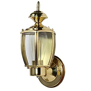 Design House 501486 Jackson 1 Light Indoor/Outdoor Wall Light, Solid Brass