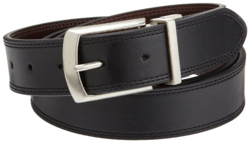 Dickies Men's 1 3/8 in. Leather Reversible Belt With Stitch,Black/brown,3X (Mens Dickies Belt)