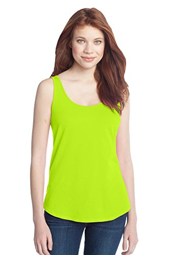 Lime Green Apparel - District Women's Cotton Swing Tank XXL Neon Lime