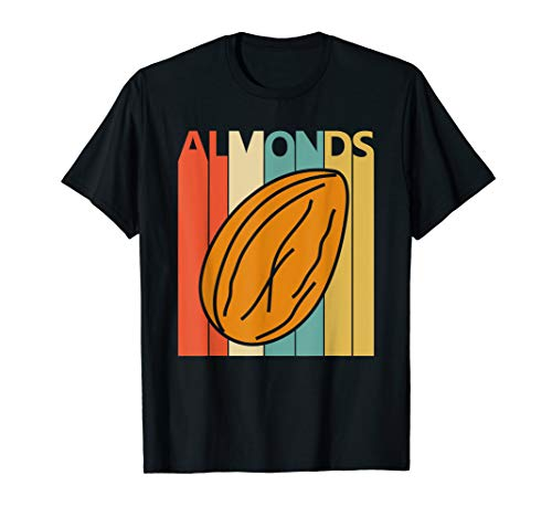 - Vintage Retro Almonds T-shirt - Almond Nuts Shirt Gift