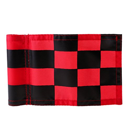 Prettyia 4Pcs Golf Chequered Flag Backyard Outdoor Putting Green Practice Aids Flags for Golf Club by Prettyia (Image #7)