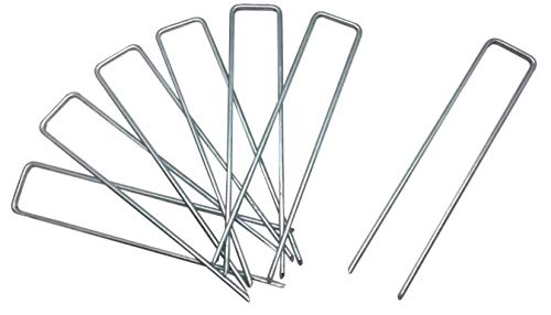 Eco.Fabric 20Pcs Weed Barrier Stakes Pins,Heavy-Duty Anti-Rust Steel Lawn Landscape Staples,20x6 Inch ()