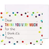 [Sponsored]Fill in the Blank Thank You Cards with Envelopes for Kids - Confetti Dot Flat Notes -...
