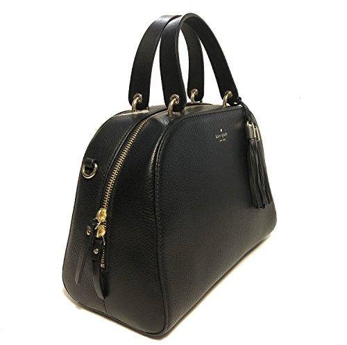 Crossbody WKRU5321 Spade Bayley Place Satchel Atwood Black Pebbled Kate Leather nIq7wx8dIp