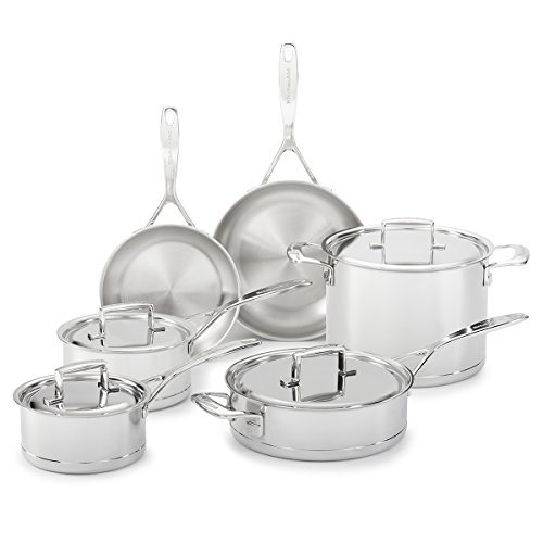 Cheap KitchenAid KCC7S10ST Professional 7-Ply Stainless Steel 10-Piece Cookware Set – Stainless Steel
