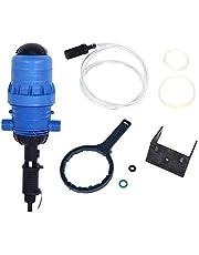 Jeffergarden Inyector de Fertilizante, máquina hidráulica accionada por Agua Inyector de Fertilizante químico Proporcionador automático Herramienta de dosificación(G1in y 0.4-4%)