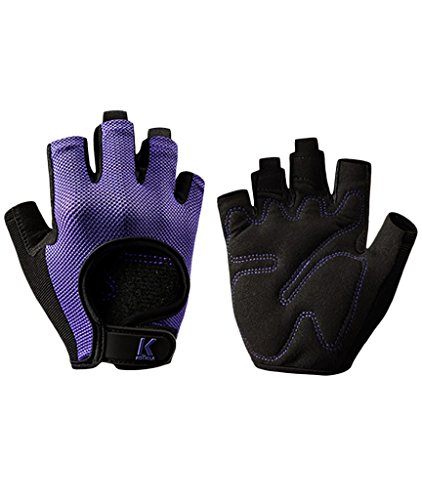 iiSPORT Weightlifting Gloves for Men & Women, Workout Gym Crossfit Fitness Grip Gloves Purple L