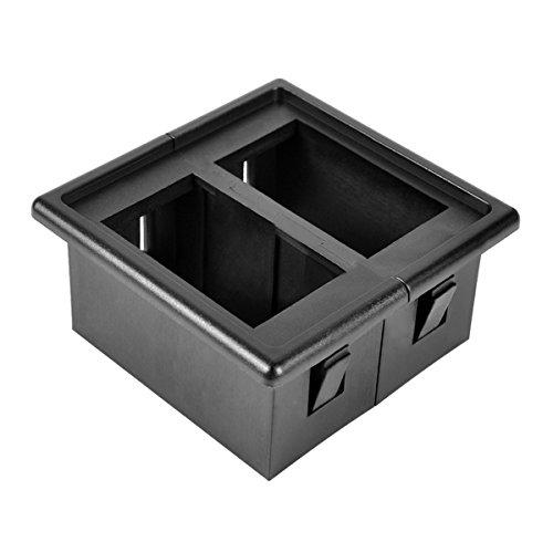 Dash Kit 2 Piece (AutoEC Rocker Switch Panel Switch Holder Housing Kit - Black Plastic)