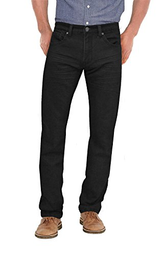 Agile Mens Super Comfy Straight Stretch Denim Jean AKP44074SL PK1 Black 34X34