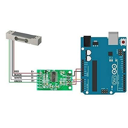Aihasd Celda de Carga Digital Sensor de Peso 20kg Portátil Escala electrónica de la Cocina + Sensores de pesaje HX711 Módulo de anuncios para Arduino: ...
