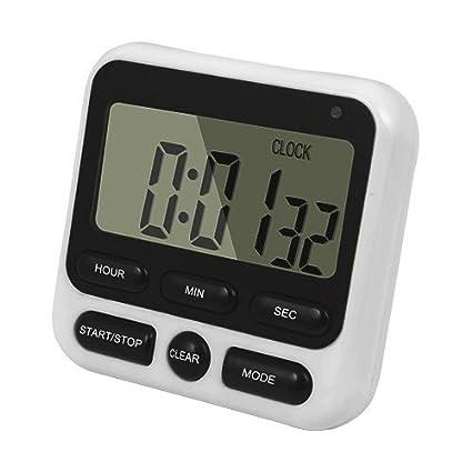 Bureze Loskii KC-05 - Reloj de Cocina Digital con Cuenta atrás y Temporizador,