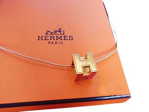 [エルメス]HERMES HキューブネックレスG金具×赤 中古 B06WGQCV6S