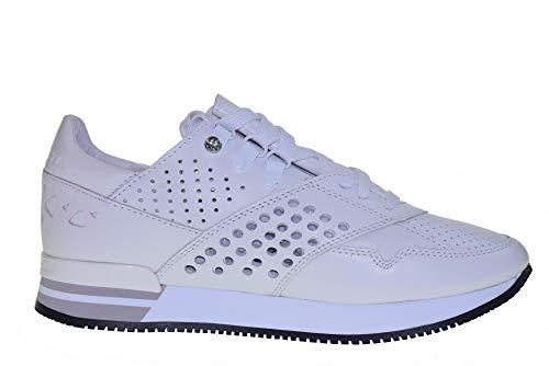 Sneakers Bianco Scarpe Francine Apepazza Interna Donna Fny06 Basse Zeppa Con nappa EBvq4Cw
