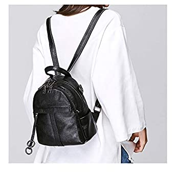 Two Sizes Available XJRHB Leather Backpack Soft Leather Fashion Ladies Small Backpack