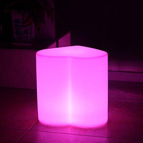 Augrous LED Lampada da terra 16 colore Mutevole Giardino posto a sedere Sgabello Leggero con Telecomando Impermeabile Plastica Cuore Forma per Cortile pathways Decorazione