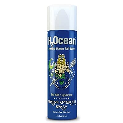 H2Ocean Piercing Spray Cleaning and Healing Solution, 4 Fl Oz