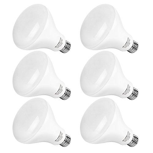 SHINE HAI BR30 LED Light Bulbs, 65W Equivalent LED Light Bulbs, 4000K Neutral White E26 Base Bulbs, Non-dimmable, UL-listed Flood Lighting Bulbs, 6-Pack